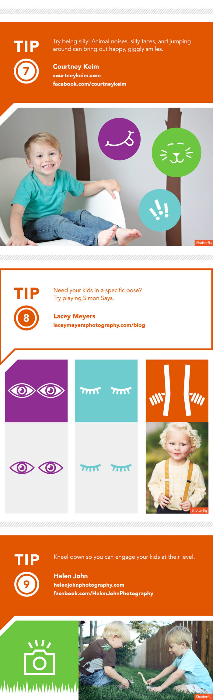 Kids Photography Tips Infographic by Shutterfly