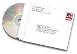 Upload by Mailing a CD